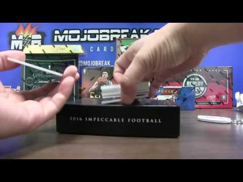 5/13 - 2016 Panini Impeccable Football 3 Box Case Break Personal For MisterDylan