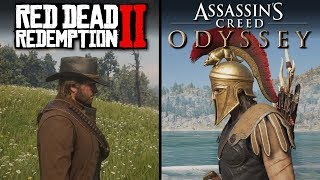 Red Dead Redemption 2 vs Assassin's Creed: Odyssey   Direct Comparison