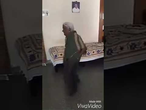 Indian Old lady funny dance