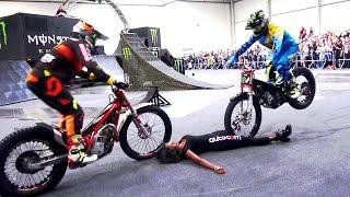 Motorräder Dortmund 2017 Monster Energy Trial Show Circus Trial Tour Motorrad Messe Action Speed