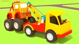 Helper cars. Cartoon for kids & cars games.