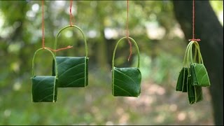 Make amazing  mango leaf Bags | Kids will love this