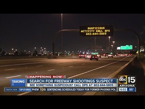 Search still on for Phoenix freeway shooter