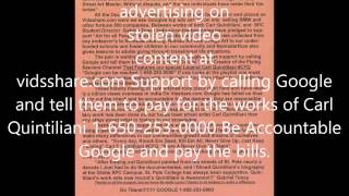 Google is advertising on stolen videos at vidsshare com Check it out