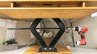 DIY Height Adjustable Standing Desk