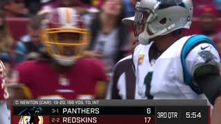 Cam Newton Shows Up Josh Norman After Big Run | Panthers vs. Redskins | NFL