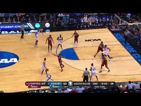 MBB // Stanford vs Kansas // 3.23.14