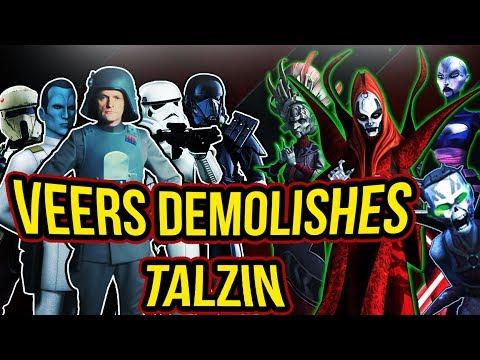 Veers Zeta + Imperial Troopers Ultimate Counter to Talzin | Star Wars: Galaxy of Heroes