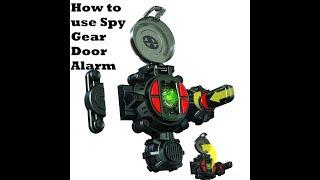 How to use your spy gear door alarm