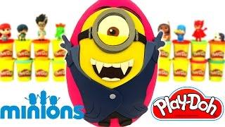 Huevo Sorpresa Gigante de Minions en Español de Plastilina Play Doh