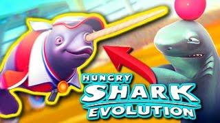 NATASHA THE NARWHAL - Hungry Shark Evolution - NEW Narwhal