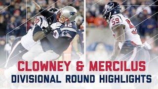 Clowney & Mercilus Explosive Game   Texans vs. Patriots   NFL Divisional Player Highlights
