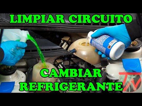 Limpiar circuito radiador y cambiar liquido refrigerante