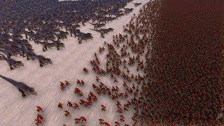 1.000 T-REX vs 30.000 SPARTANS - Ultimate Epic Battle Simulator