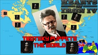 Hearts of Iron 4 - Trotsky Puppets the World (Ultimate Expanded States Mod)