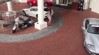 AC 378 GT Zagato Blows Girls Skirt At The Bay Hotel, Camps Bay