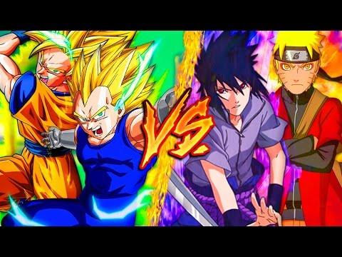 Goku & Vegeta Vs. Naruto & Sasuke    Combates Mortales de Rap    Jay-F, MC Energy, CarRaxX & Saikore