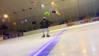 Freestyle ice skating 3.  ashish showing  some skills at russia and  gurgoan ice rink