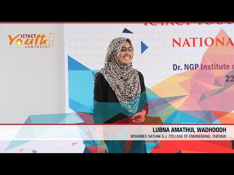 Lubna Amathul Wadhoodh | Regional Winner  | National Pre-Finals | ICTACT Youth Contest 2015