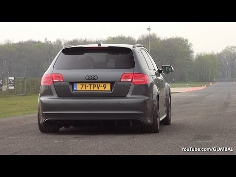 Audi RS3 Sportback w Milltek Non Resonated Catback Exhaust Dragraces
