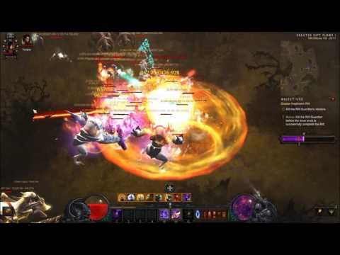 Diablo 3 Season 9/Era 7 Greater Rift Tier 100 Solo Wizard [Firebird]