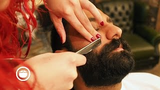 Super Dense Barbershop Beard Trim   Cut and Grind