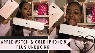 Apple Watch & Gold Iphone 8 Plus Unboxing