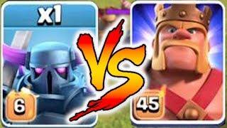 LVL6 PEKKA vs. MAX KING!! | Clash Of Clans | NEW LEVEL FIGHT!!