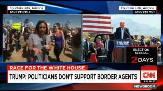 Trump Rally Attendee in Ariz Says 'Fuck her right in the pussy' Live on CNN