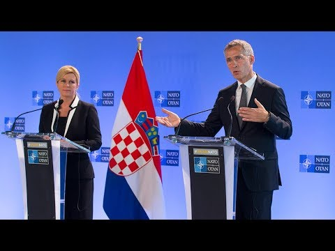 Xxx Mp4 NATO Secretary General With The President Of Croatia Kolinda Grabar Kitarović 14 JUN 2018 3gp Sex