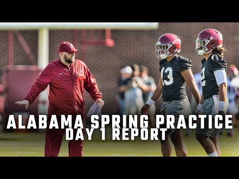 Biggest storylines from Alabama s first day of spring practice