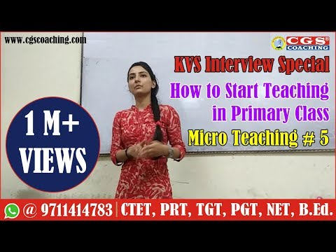 KVS Interview Special || How to start teaching in primary class || Micro Teaching # 5