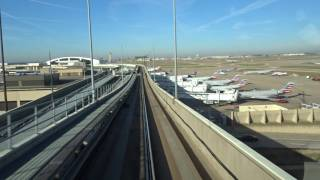 Riding the Skylink from Terminal A to Terminal B Dallas Fort Worth Airport Dallas, TX