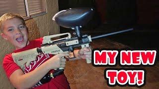 I GOT A PAINTBALL GUN!