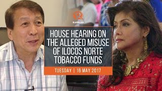 WATCH: House hearing on the alleged misuse of Ilocos Norte tobacco funds