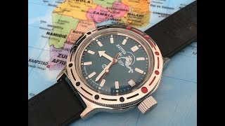 The Best Russian Automatic Dive Watch Under $60 | Vostok Amphibia 420059 | Scuba Dude | Unboxing |