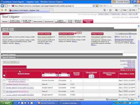 LexisNexis(R) CourtLink(R) Search