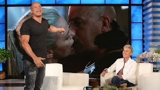 Vin Diesel Hilariously Flips Out After Charlize Theron Says He Kisses Like a