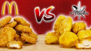 McNUGGETS VS HOMEMADE - McNugget Challenge! SECRET ingredients exposed!