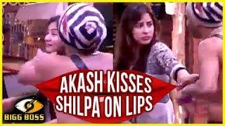 Shilpa SLAPS Akash For KISSING Her On LIPS | Bigg Boss 11
