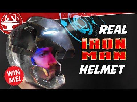 Metal Iron Man Helmet WITH DISPLAY GIVEAWAY