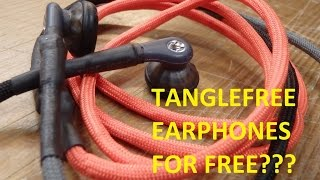 HOW TO - Build your own professional tanglefree PARACORD earphones / headphones for free