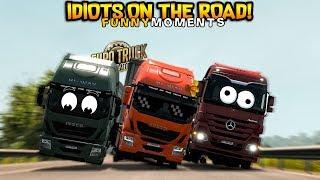 Euro Truck Simulator 2 Multiplayer | Funny Moments & Crash Compilation | #34