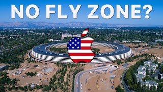 ILLEGAL DRONE FLYING OVER APPLE PARK? - July 4th Update in 4K