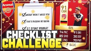 FIFA 17 CHECKLIST CHALLENGE!! 📋 KING 91 INFORM OZIL!! 😱 FIFA 17 SQUAD BUILDER