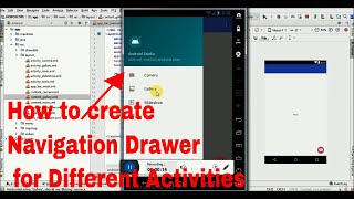How to create Navigation Drawer with Different Activities...