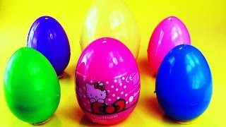 Hello Kitty Surprise Eggs -Toy unboxing
