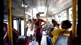 Bharatanatyam dancer's performance on moving bus leaves passengers awestruck