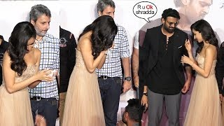 Shradhha Kapoor Gets EM0TI0NAL & CRIES In Front of Prabhas At Saaho Trailer Launch Event