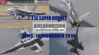 BOEING F18F US NAVY SUPER HORNET DEMONSTRATION - FARNBOROUGH AIRSHOW (airshowvision)